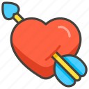 1f498, arrow, heart, with icon
