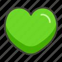 1f49a, green, heart icon