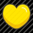 1f49b, heart, yellow icon