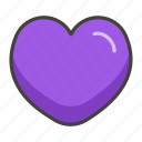 1f49c, heart, purple icon