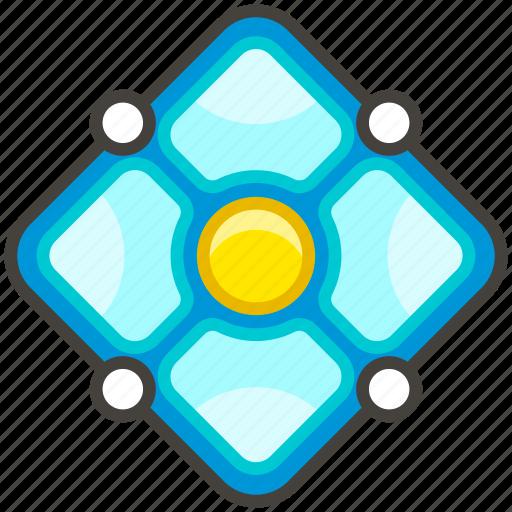 1f4a0, a, diamond, dot, with icon