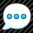 1f4ac, balloon, speech icon