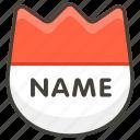 1f4db, b, badge, name