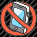 1f4f5, mobile, no, phones icon