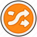 1f500, shuffle, tracks, b icon