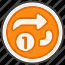 1f502, b, button, repeat, single icon