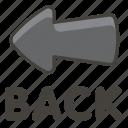 1f519, arrow, back