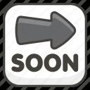 1f51c, arrow, b, soon icon
