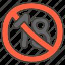 eighteen, 1f51e, under, no icon