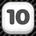 1f51f, keycap icon