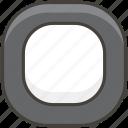 1f532, black, button, square icon