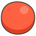 1f534, circle, red icon