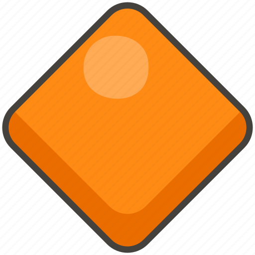 1f536, diamond, large, orange icon
