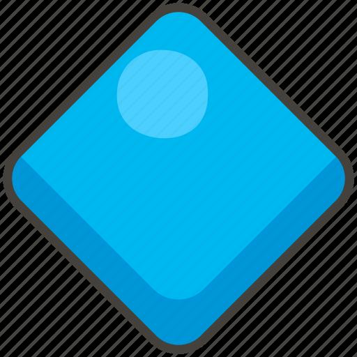 1f537, blue, diamond, large icon