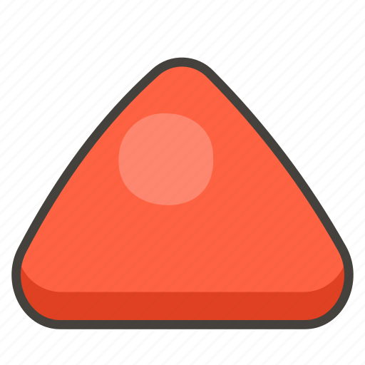 1f53a, pointed, red, triangle, up icon