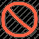 1f6ab, prohibited icon