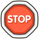 1f6d1, sign, stop icon