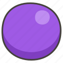 1f7e3, circle, purple icon