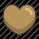 1f90e, brown, heart icon