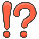 exclamation, mark, question icon