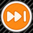 23ed, b, button, next, track icon