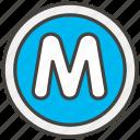 24c2, circled, m icon