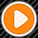 25b6, b, button, play icon
