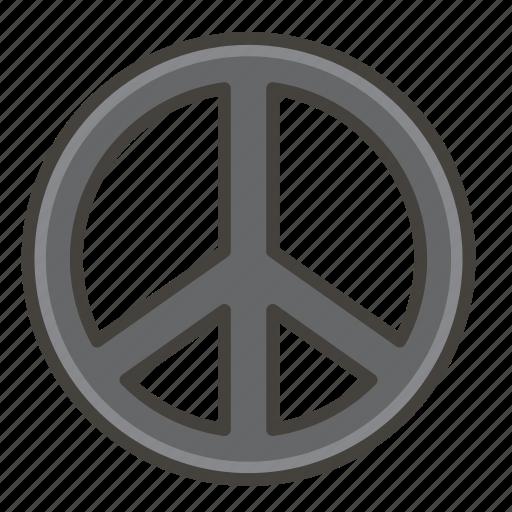 262e, a, peace, symbol icon