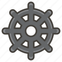 a, dharma, of, wheel icon