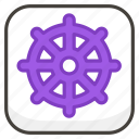 b, dharma, of, wheel icon