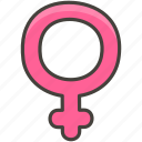 a, female, sign icon