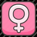 b, female, sign icon