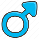 a, male, sign icon