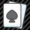 b, spade, suit icon