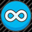 267e, b, infinity icon