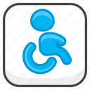 267f, symbol, wheelchair