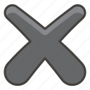 multiplication, sign icon