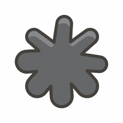 asterisk, eight, spoked icon