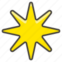 eight, pointed, star icon