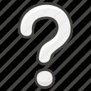 mark, question, white icon