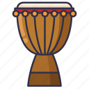 african, djembe, drum, music icon