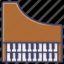 harpsichord, instrument, music, organ icon