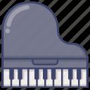 grand, instrument, piano icon