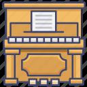 clavichord, instrument, music, piano icon
