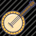banjo, instrument, music icon