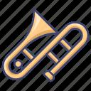 brass, instrument, trombone icon