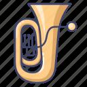 brass, instrument, tuba icon