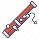 bassoon, instrument, music icon