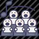choir, chorus, harmony icon