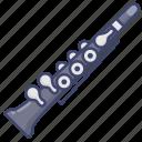 clarinet, instrument, music icon